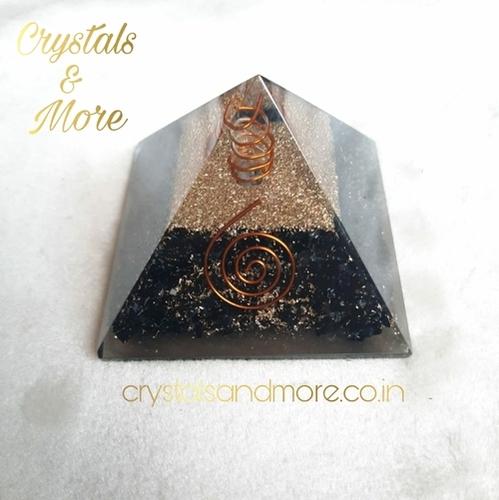 Black Obsidian Orgone Pyramid