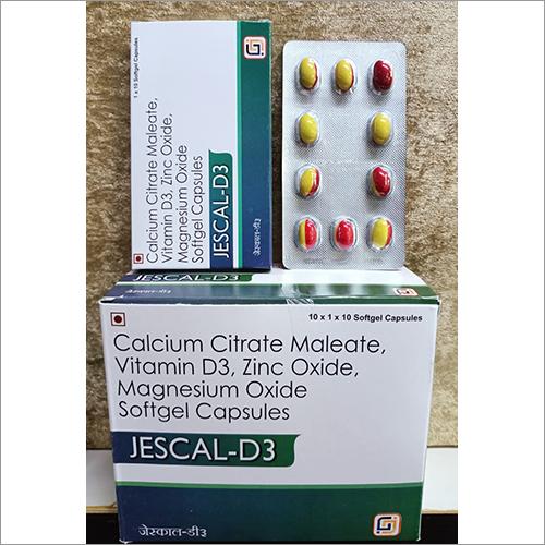 Calcium Citrate Maleate, Vitamin D3, Zinc Oxide, Magnesium Oxide Softgel Capsules