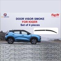 KIGER DOOR VISOR SMOKE GREY COLOR