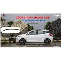GRAND i10 NIOS CHROME LINE DOOR VISORS