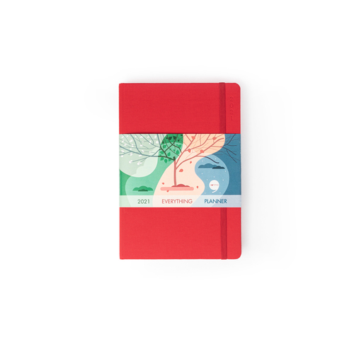 Comma Everything Planner 2022 - A5 Size - (Red)