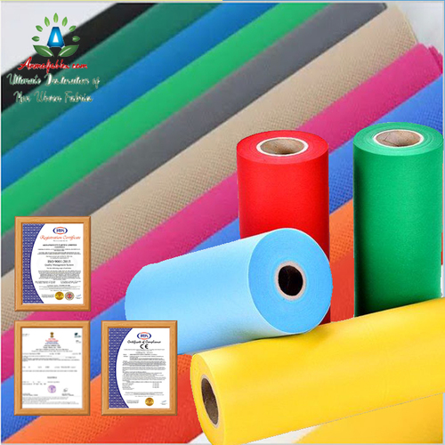 PP SPUNBOND NONWOVEN FABRIC ROLLS FOR D CUT & W CUT BAG MANUFACTURERS AND SUPPLIERS IN REGULAR AND JUMBO SIZES