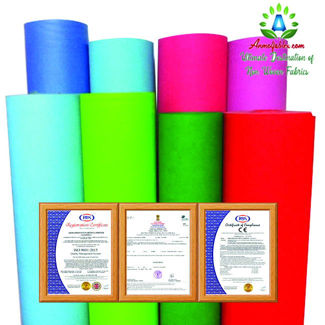 SPUNBOND NONWOVEN FABRIC STRONG STRENGTH AND ELONGATION, SOFT, NON-TOXIC