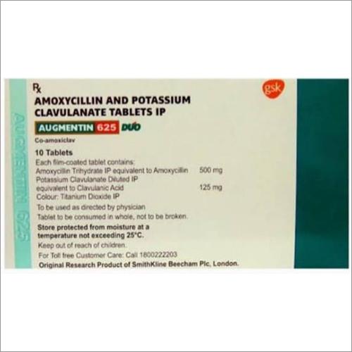 Amoxycillin And Potassium Clavulanate Tablets IPAmoxycillin And Potassium Clavulanate Tablets Ip