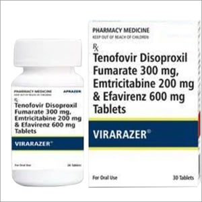 Tenofovir Disoproxil Fumarate 300 Mg, Emtricitabine 200 Mg And Efavirenze 600 Mg Tablets