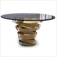 Cast Aluminium Center Table With Gold Finish