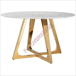 Aluminium Table With Gold Finish Table