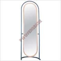 Iron Frame With Matt Brass Finish Mirror