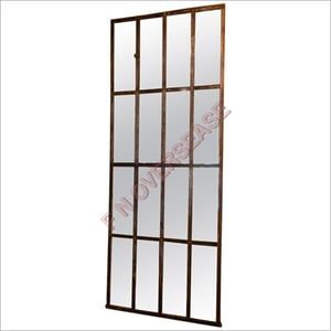 Iron Frame With Rusted Finish Mirror