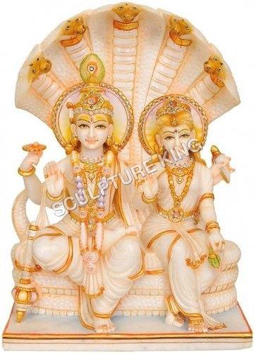 Marble Laxmi-Narayan Statues
