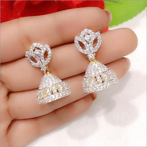 Rhinestone Jhumki Earrings