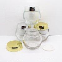 Cosmetics glass jar