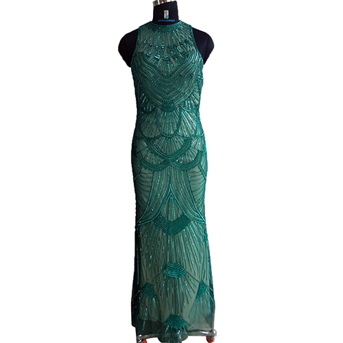Ladies Beaded Long Dress