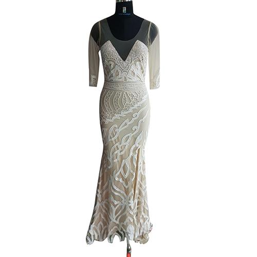 Beaded Designer Long Dress