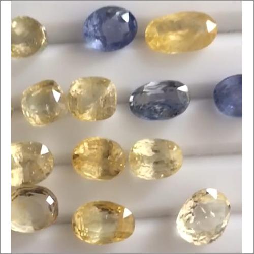 Unheated Untreated Ceylon Blue Sapphire And Yellow Sapphire