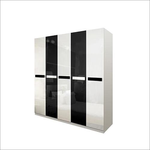 5 Door Simple Design High Gloss Wardrobe