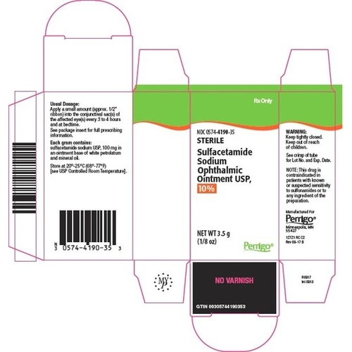 Sulfacetamide Sodium Ophthalmic Ointment