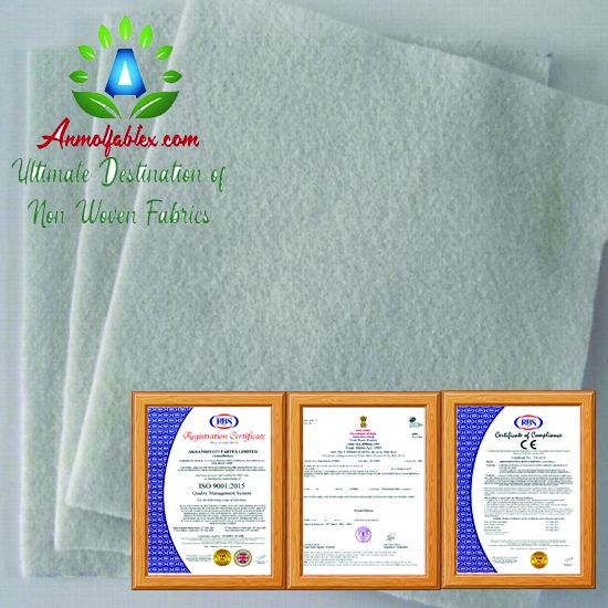 Felt Fabric Roll Polyester Soft Felt Nonwoven Sheet, Recycled Eco-Friendly Rainbow Colors Wool