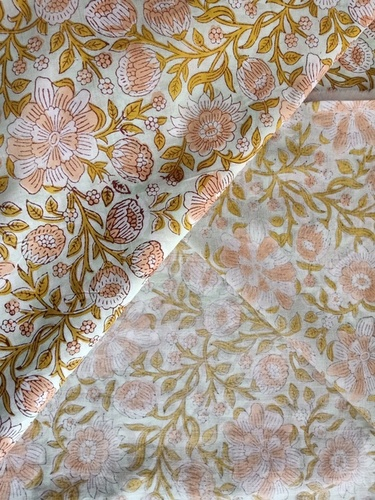 Floral Hand Block Print Fabric