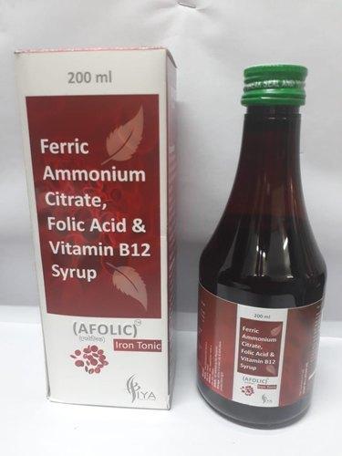 Ferric Ammonium Citrate + Folic Acid + Vitamin B12 Syrup