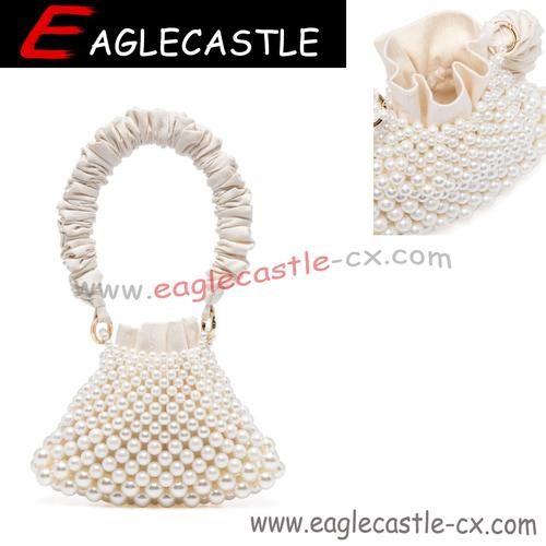 Factory Handmade Pearl Luxury Handbags Women Bags Designer Purses And Handbags Clutch Evening Bag Wedding Bag