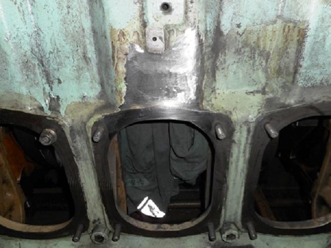 Metal Stitching & Metal locking of Engine Block