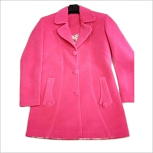 Ladies Pink Velvet Coat
