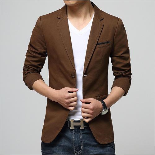 Mens Cotton Casual Blazer
