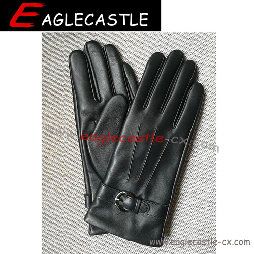 Lady Leather PU Winter Gloves  Sheep Gloves
