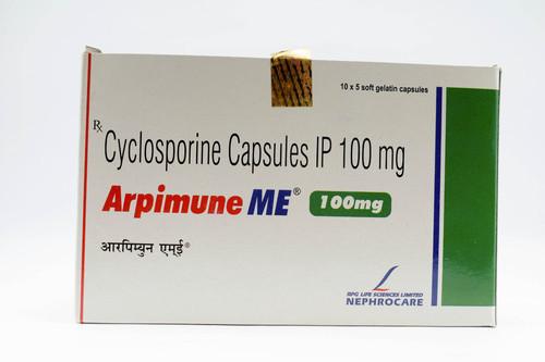 Arpimune ME 100 mg Cyclosporine Capsules IP ,