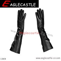 Long Size Ladies Gloves, PU Gloves, Dress Accessories, Party Gloves