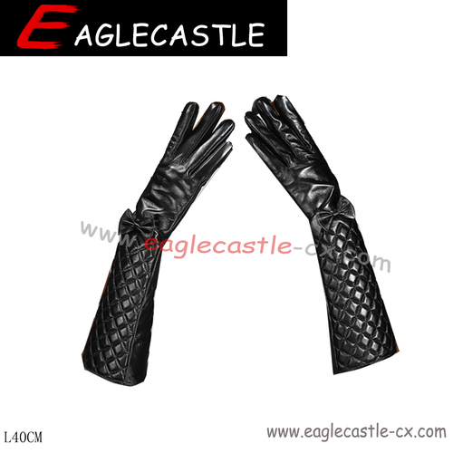 Long Ladies Gloves, PU Gloves, Dress Accessories, Party Gloves