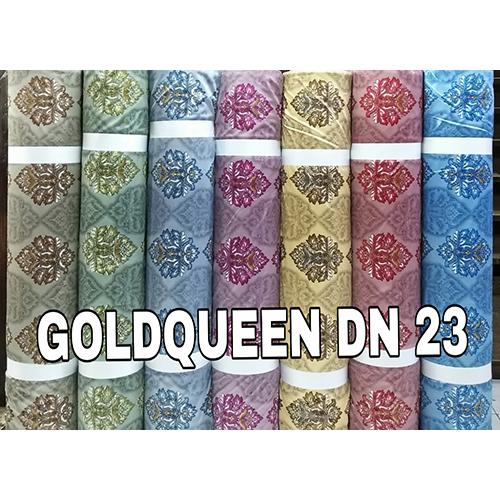Heavy Printed Goldqueen Curtain Fabric