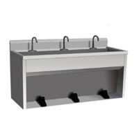 Foot Control Stainless Steel Kitchen Sink Used Commercial Stainless Steel Single Sink Work Bench