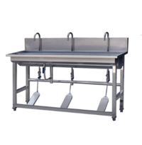 Industrial Stainless Steel Portable Hand Washing Sink Free Standing With Foot Operated