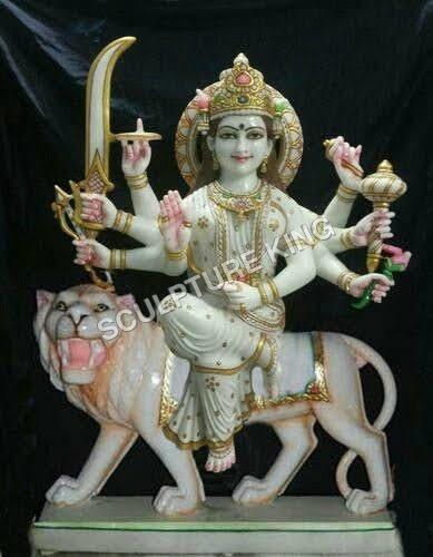 Durga Marble Moorti