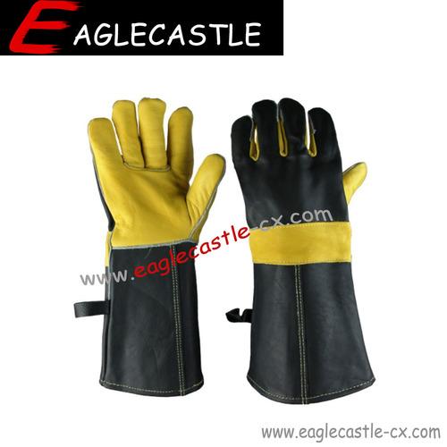 HOT SALE grain cowhide leather work gloves
