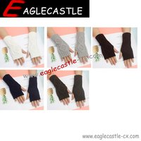 Fashion women crochet pattern knitted texting gloves lady wholesale