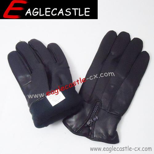 Men's Leather Gloves, Warm Gloves, Winter Gloves, Motorcycle Gloves
