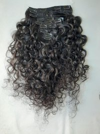 Raw Unprocessed Super Curly Clip In Hair Extensions