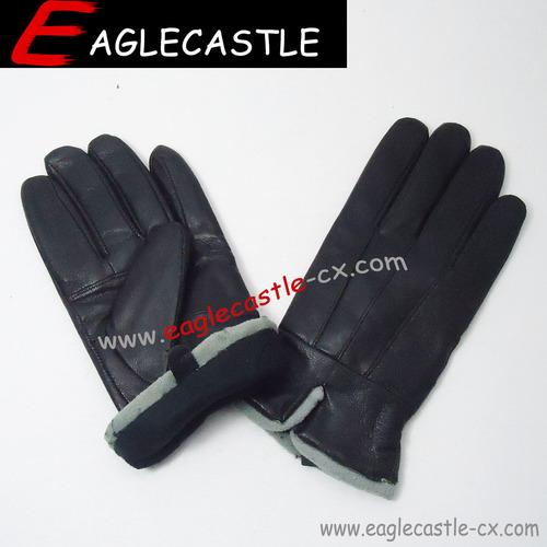 2021 New Fashion Sheepskin Lamb Fur Cheap Personalized Classic Men Leather Gloves