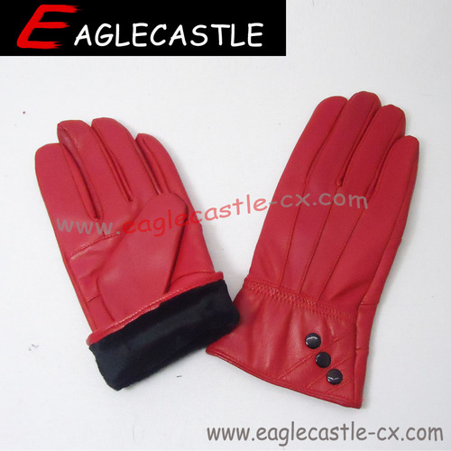Fashion leather glove for women cheap leather glove