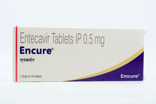 Encure 0.5mg Entecavir tab , 10 Tablets