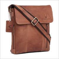 Mens Tan Leather Bag