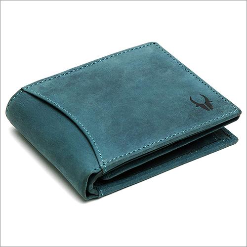 Mens Blue Hunter Leather Wallet