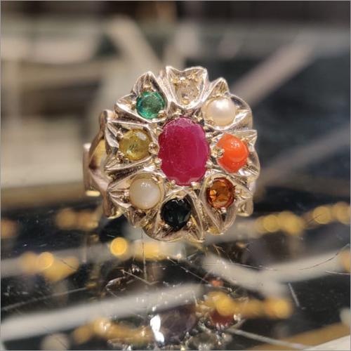 Navratna Ring in Gold & Silver