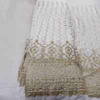 VISCOSE GEORGETTE SEQUENCE & JARI EMBROIDERY WORK FABRIC