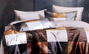 ABC Textile Printed Pure Cotton Super King Size Bedsheet with 2 Pillow Covers - 240TC - (108x108 Inches)