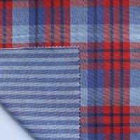 Organic Cotton Yarn Dyed  double cloth Plain Fabric
