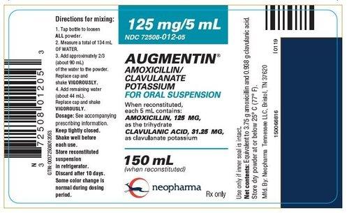 Amoxicillin and Clavulanate  Potassium for Oral Suspension